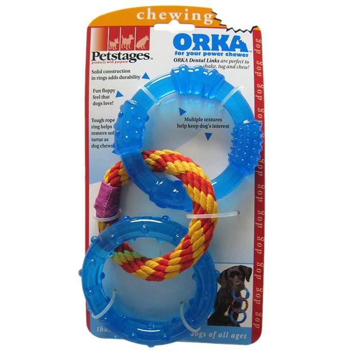 PETSTAGES ORKA DENTAL LINKS – Орка кольца для зубов для собак