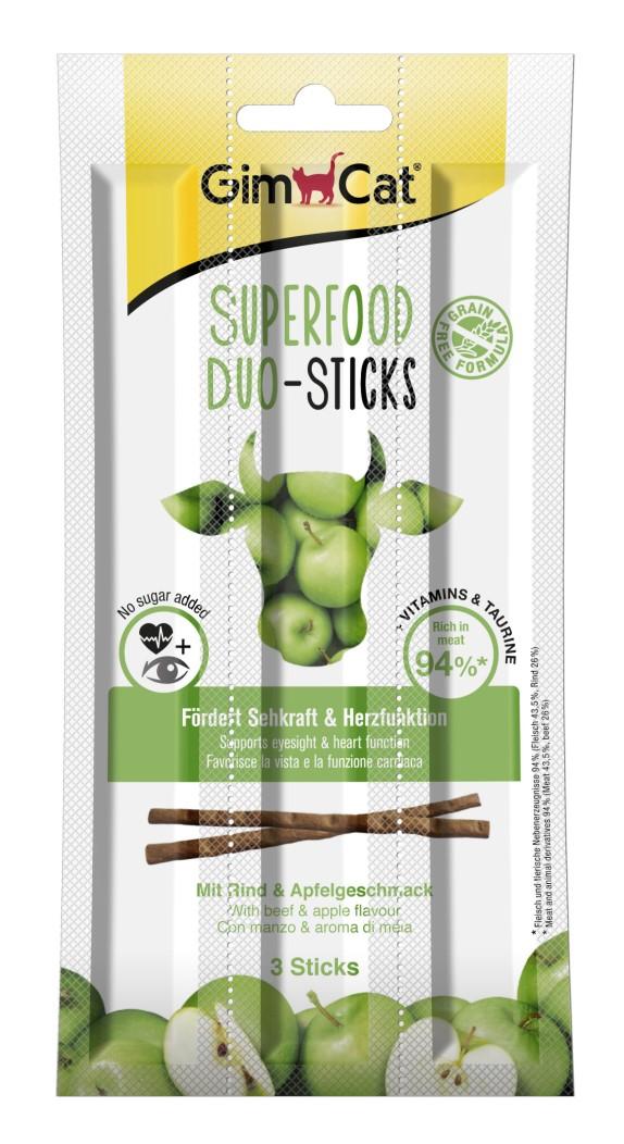 GimCat Superfood Duo-Sticks палочки с говядиной и яблоком для котов