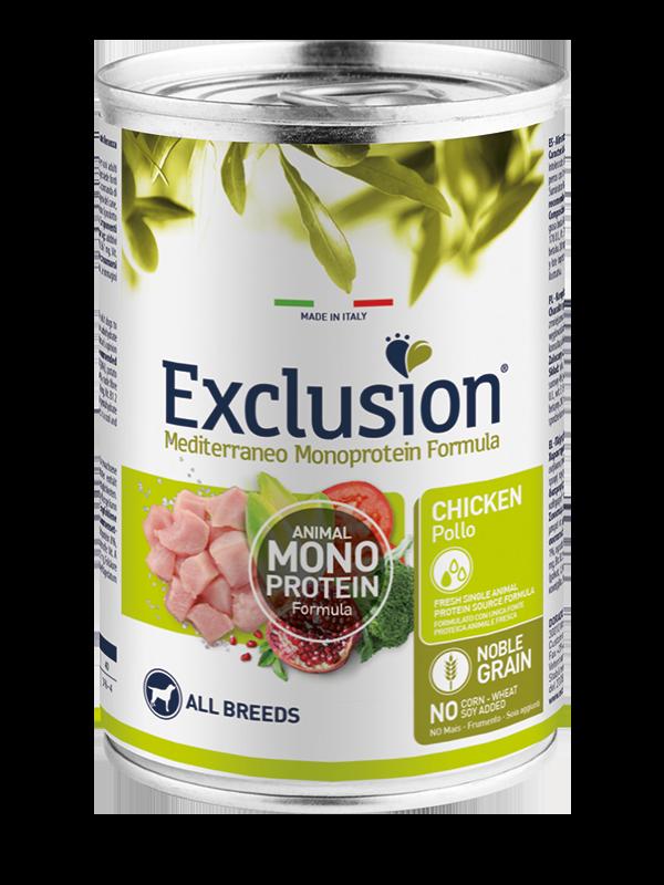 Exclusion Noble Grain Adult Chicken All Breeds – консервований корм з м'ясом курки для дорослих собак усіх порід