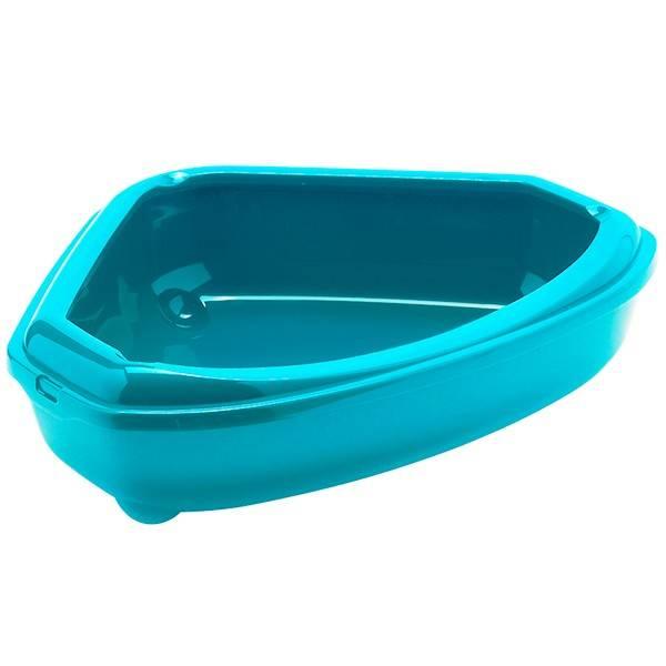 Moderna МОДЕРНА КОЗИ – туалет кутовий із бортиком для котів, 55х45х14 см