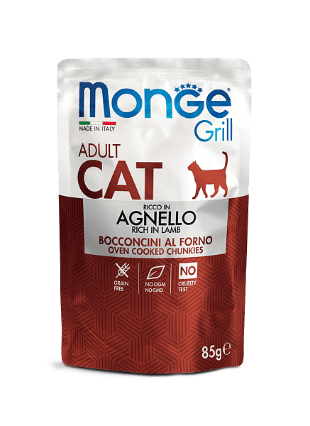 Monge Grill – консервы с ягненком для взрослых котов