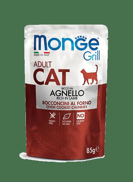 Monge Grill Adult консервы с ягненком для взрослых котов