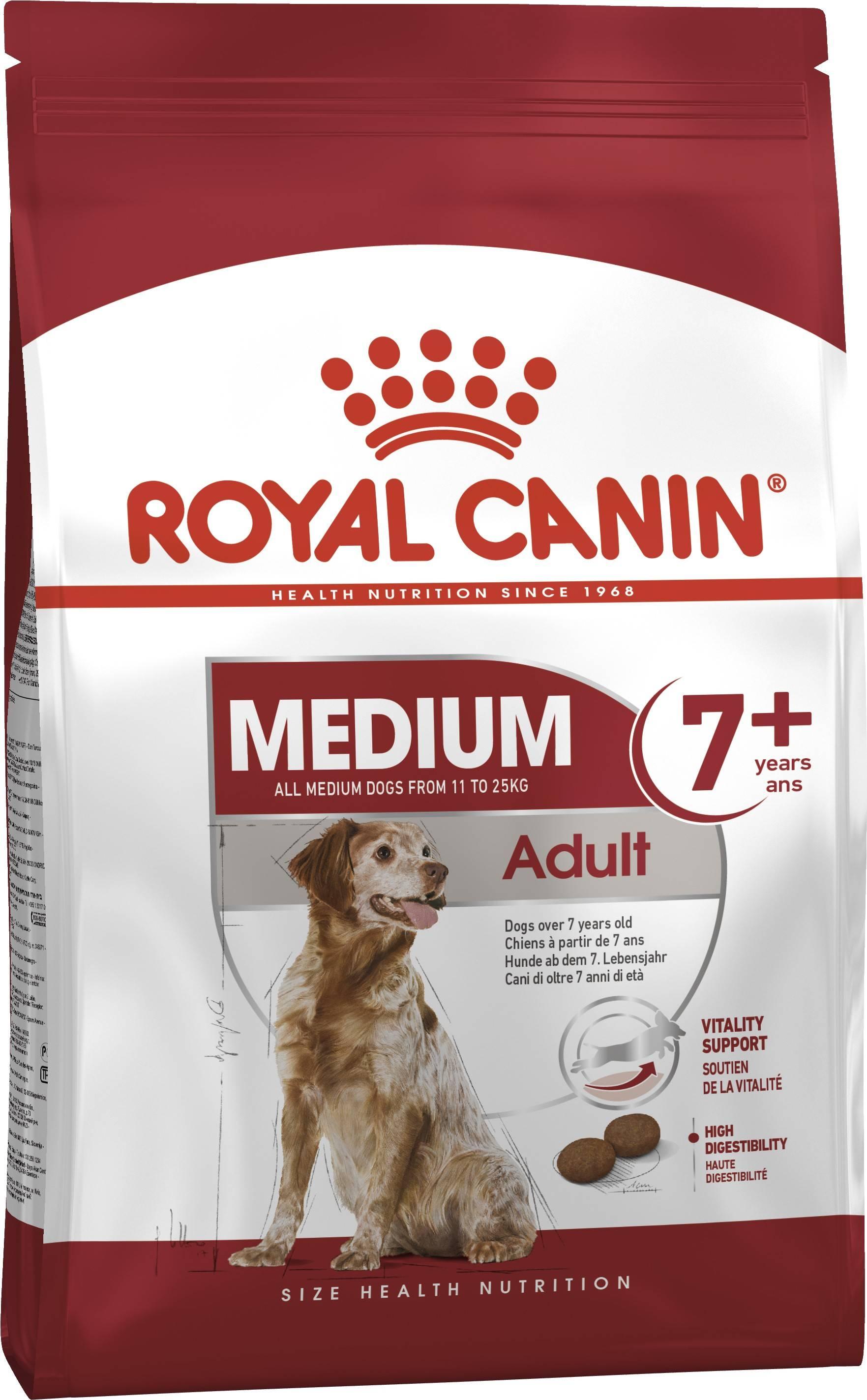 ROYAL CANIN MEDIUM ADULT 7+ – сухой корм для собак средних пород старше 7 лет