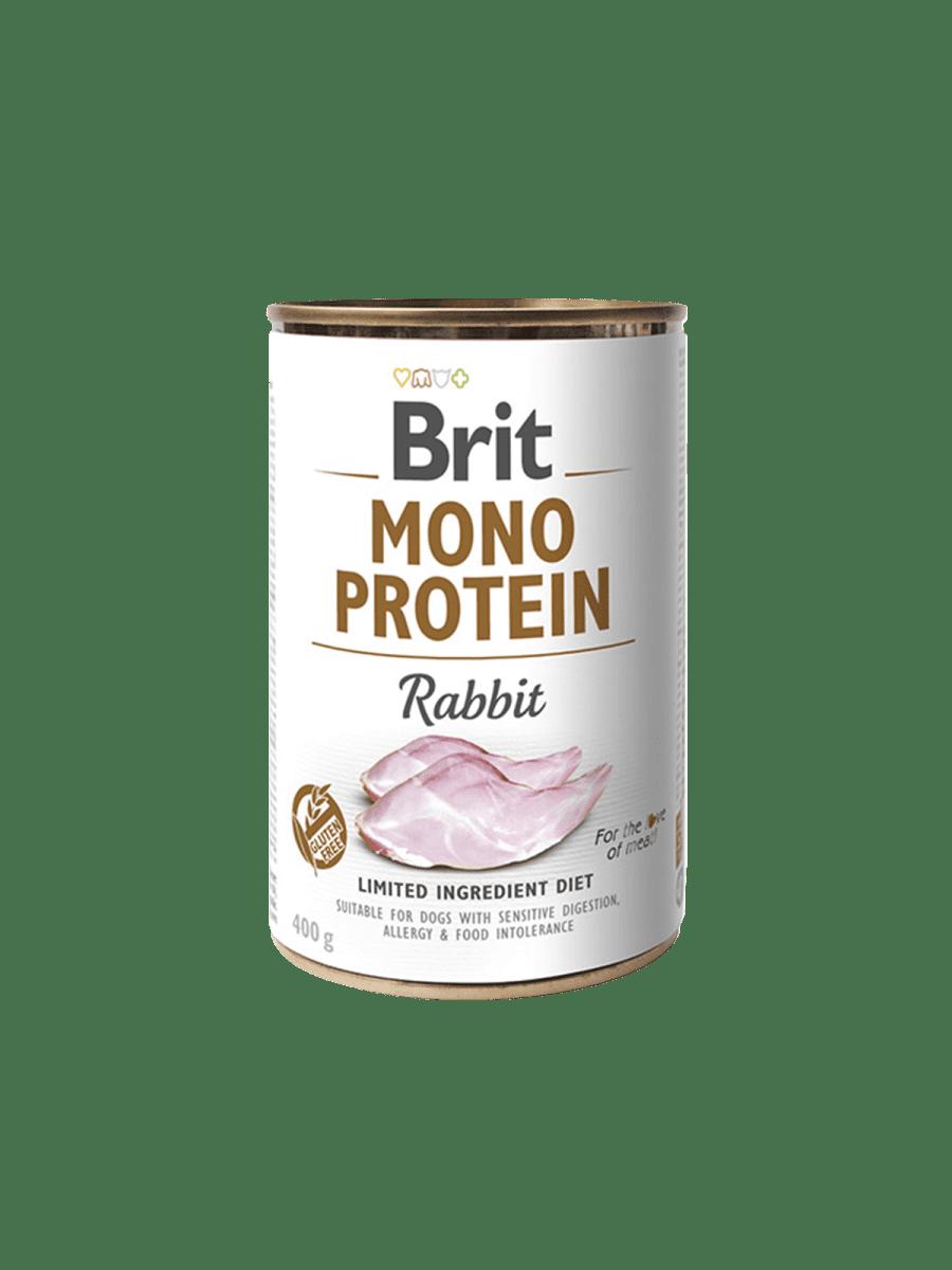 BRIT MONO PROTEIN RABBIT – консерва с кроликом для собак с чувствительным пищеварением