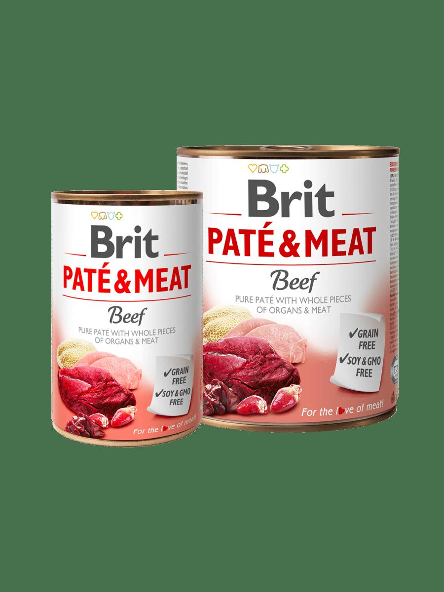 BRIT PATÉ & MEAT BEEF – вологий корм з яловичиною для дорослих собак