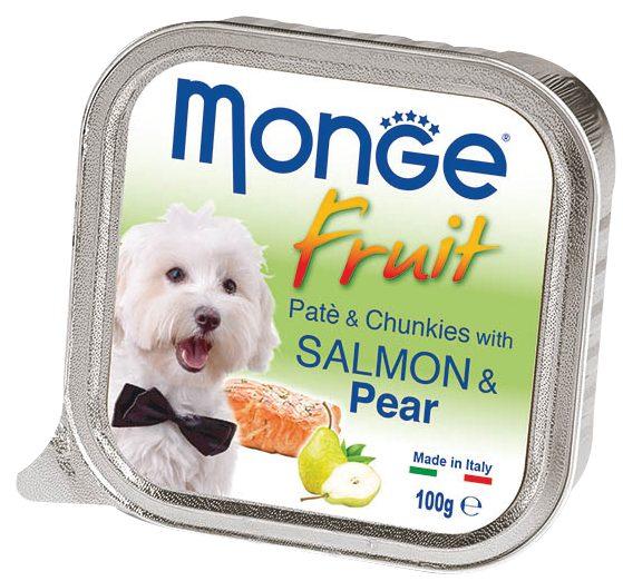 Monge Fruit with Salmon and Pear – консервы с лососем и грушей для собак