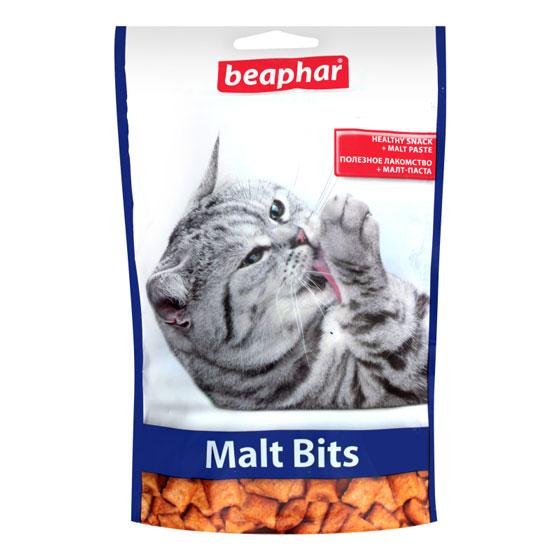 Beaphar Malt Bits – подушечки з мальт-пастою для котів