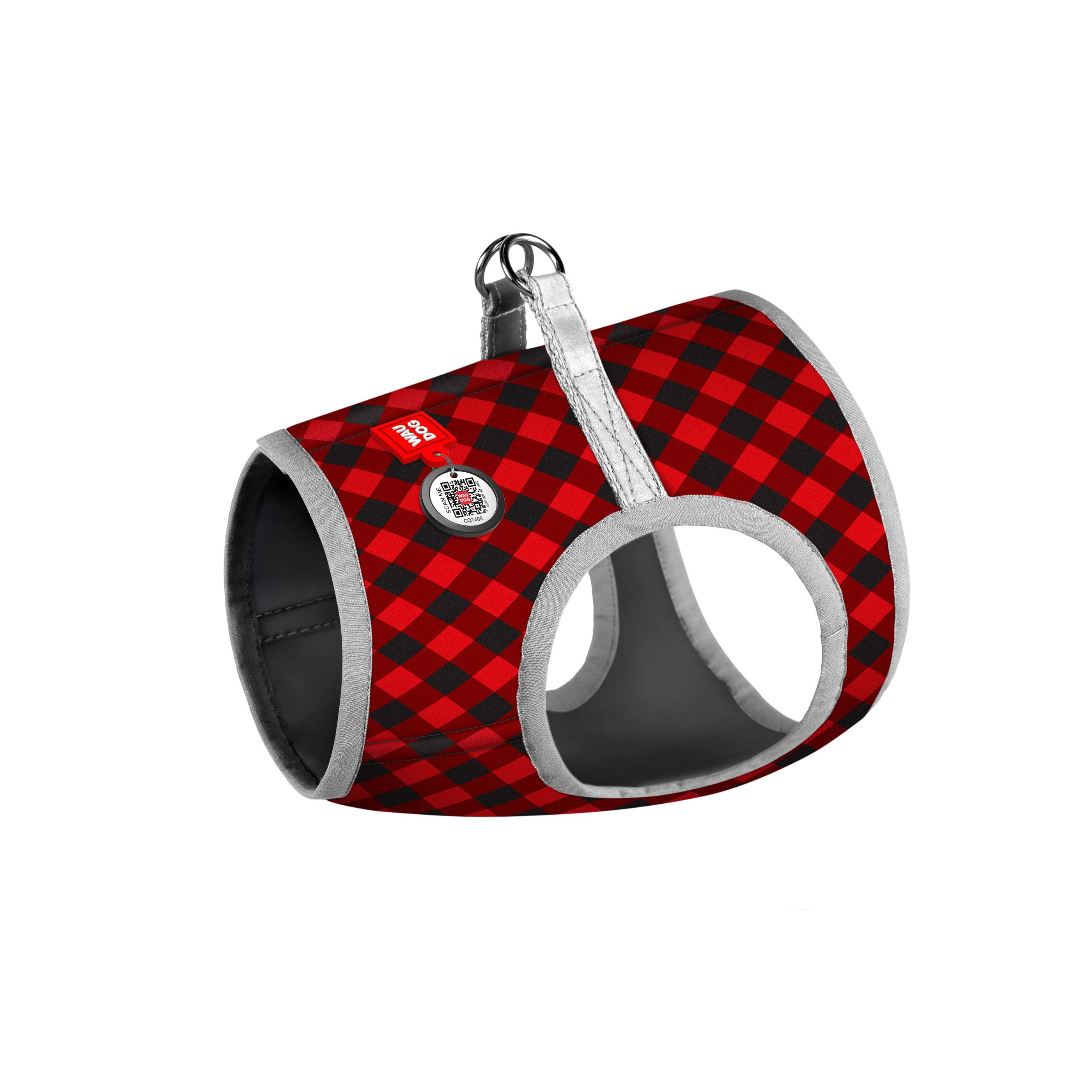 """WAUDOG """"Шотландка червона"""" – м'яка шлея для собак"""