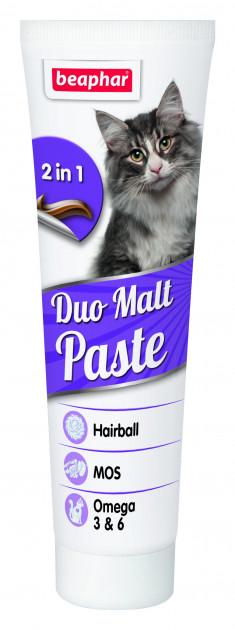 Beaphar Duo Malt Paste – мальт-паста для виведення шерсті у котів