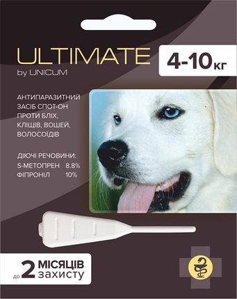 ULTIMATE краплі від бліх, кліщів, вошей і волосоїдів для собак вагою від 4 кг до 10 кг