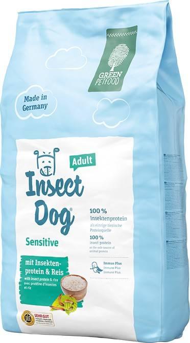 GREEN PETFOOD INSECTDOG SENSITIVE ADULT – вегетарианский сухой корм с протеином насекомых для взрослых собак