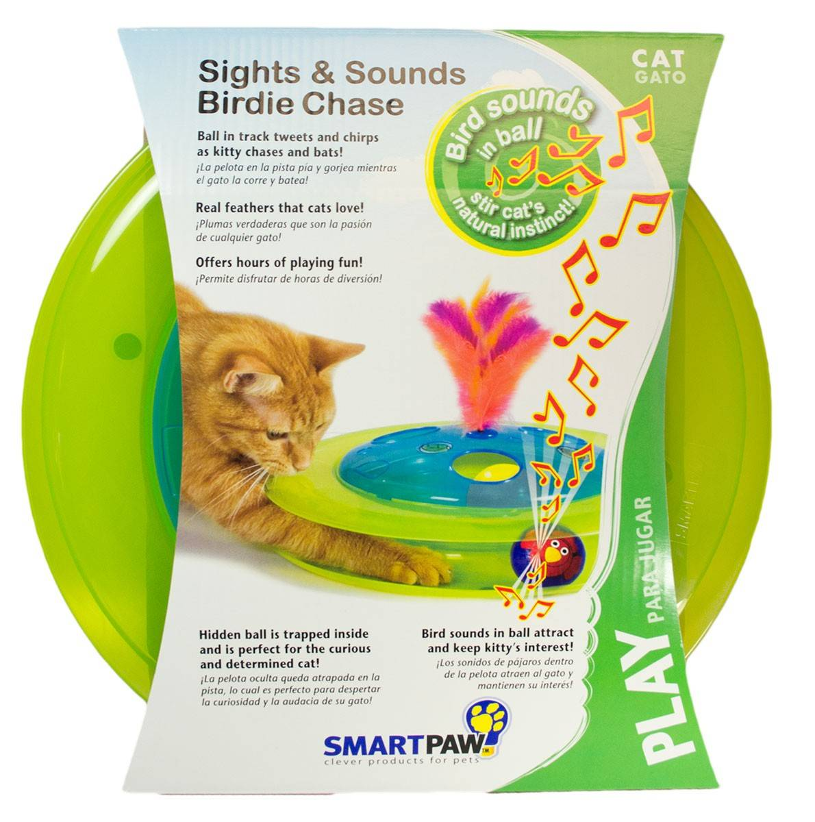 PETSTAGES інтерактивна іграшка трек із м'ячиком і пташкою для котів