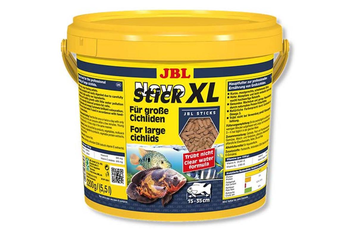 JBL NovoStick XL – основний корм у формі гранул для великих хижих цихлид