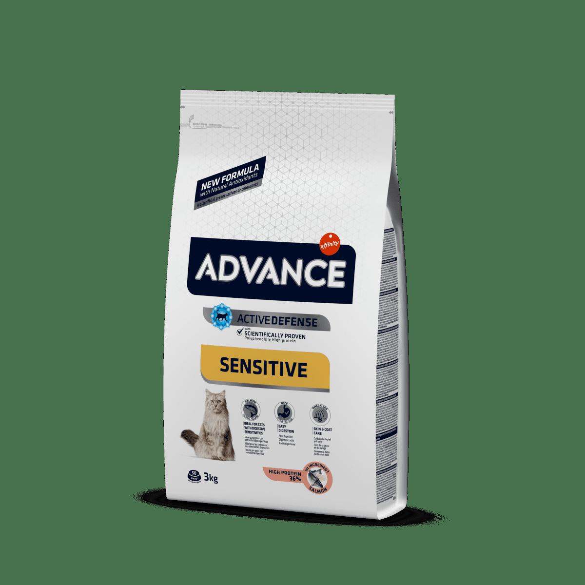Advance Cat Salmon Sensitive – сухий корм для котів з чутливим травленнямз лососем