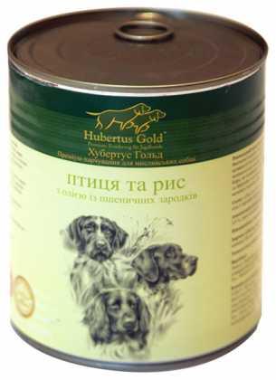 HUBERTUS GOLD влажный корм с мясом птицы и рисом для взрослых собак