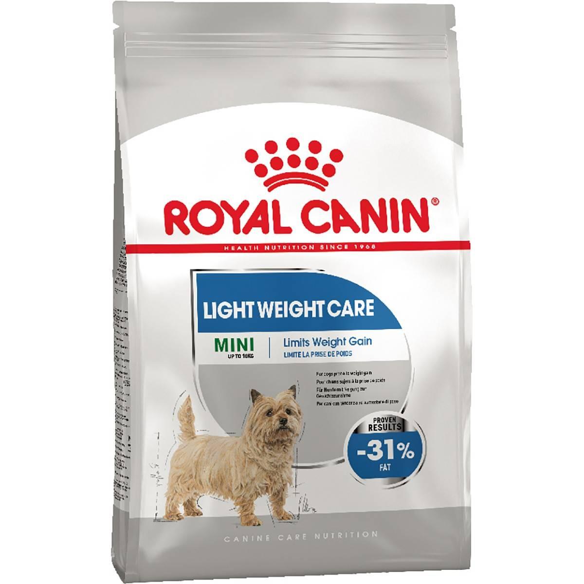 ROYAL CANIN MINI LIGHT WEIGHT CARE – сухой корм для собак мелких пород, склонных к набору избыточного веса