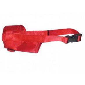 DOG Extreme намордник нейлоновый регулируемый с п/к, красный
