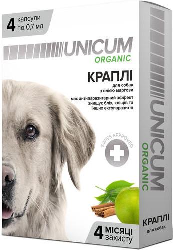 UNICUM ORGANIC Краплі на натуральній основі для відлякування бліх і кліщів для собак