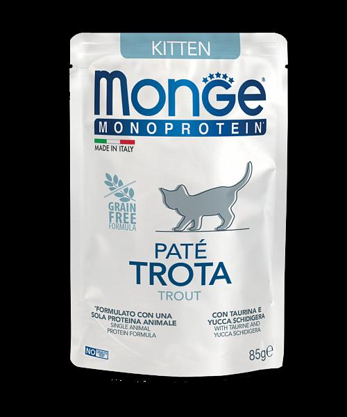 Monge Monoprotein Trout Kitten - консерви з фореллю для кошенят
