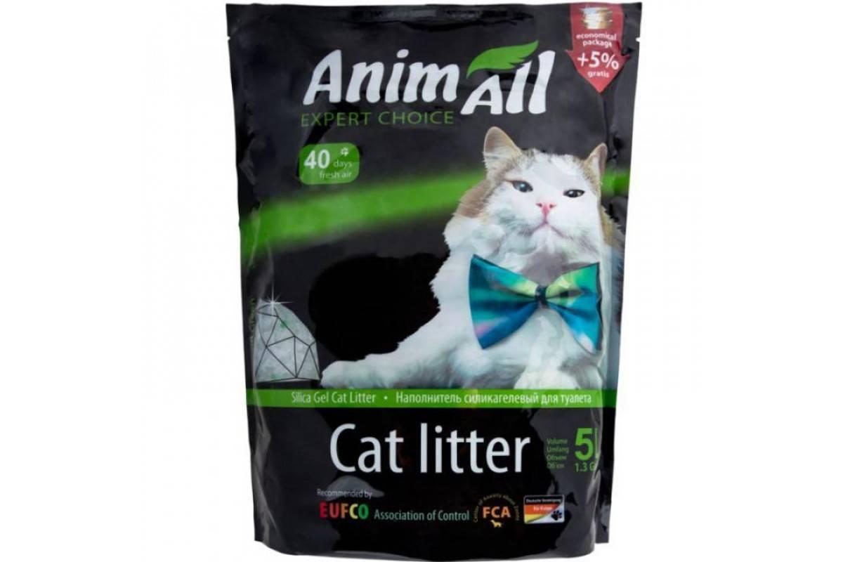 """AnimAll """"Кристаллы изумруда"""" – силикагелевый наполнитель для кошачьих туалетов"""