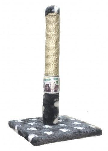 Пушистик (Сизаль) – когтеточка-столбик на подставке с лапками, 50/30