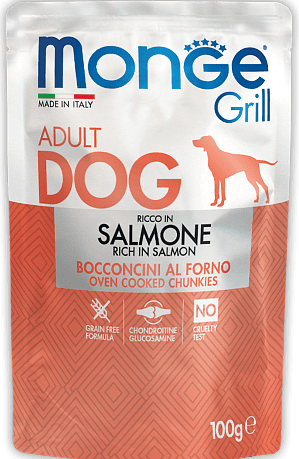 Monge Grill with Salmon консервы с лососем для собак