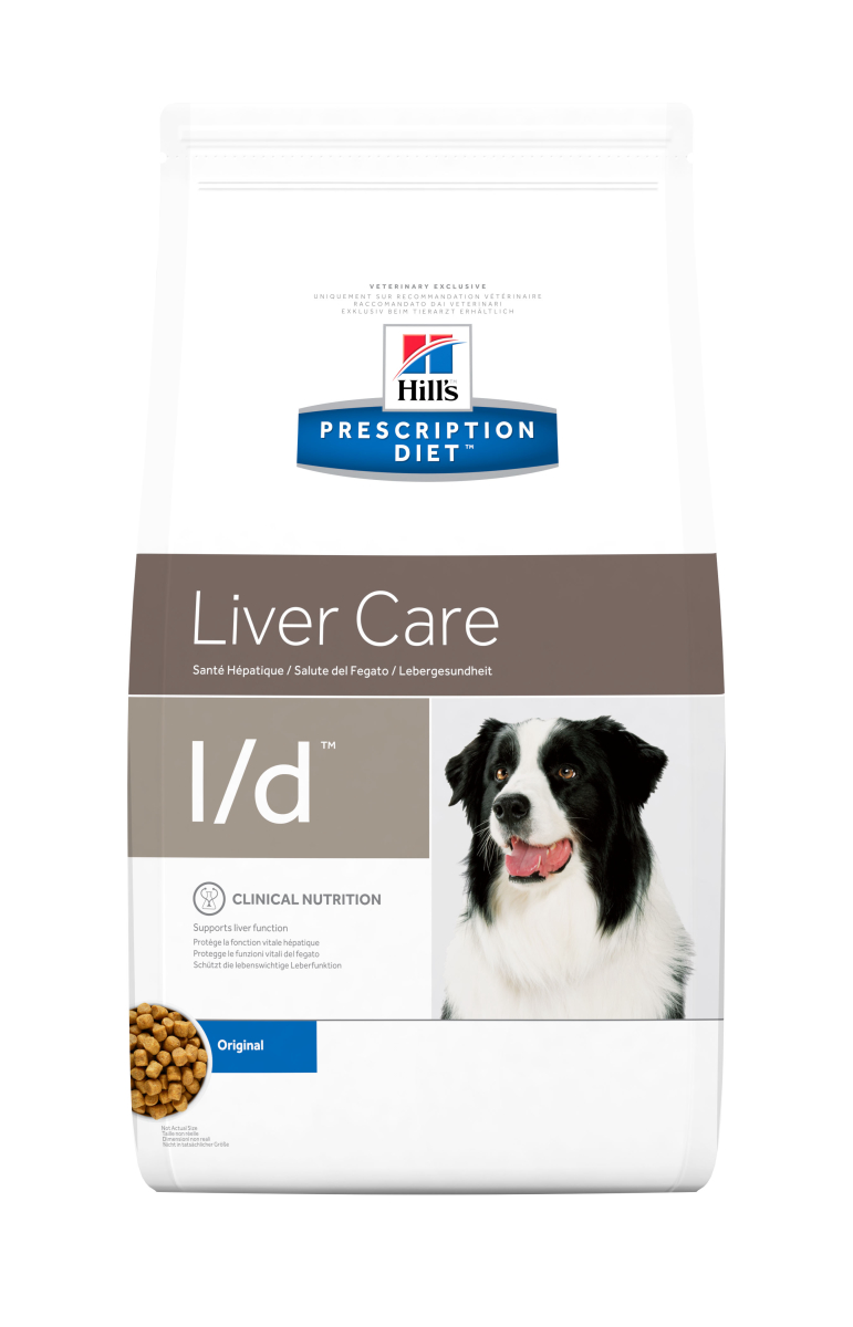 HILL'S PRESCRIPTION DIET L/D LIVER CARE –  лечебный сухой корм для собак с заболеваниями и/или снижением функций печени