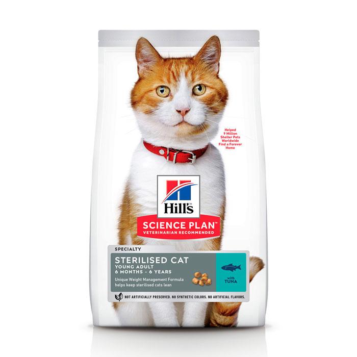 HILL'S SCIENCE PLAN YOUNG ADULT STERILISED CAT сухий корм з тунцем для стерилізованих кішок