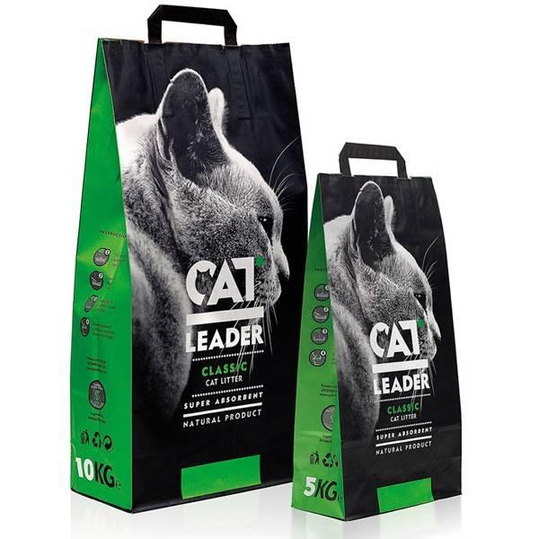 CAT LEADER минеральный наполнитель для кошачьих туалетов