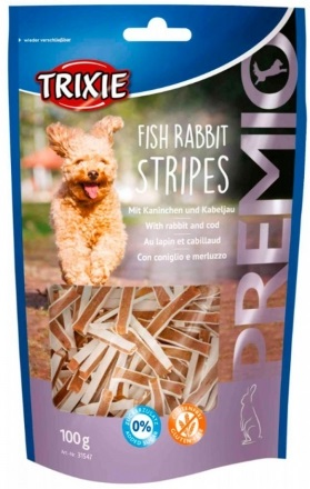 Trixie Premio Fish Rabbit Stripes – ласощі з кроликом та тріскою для собак