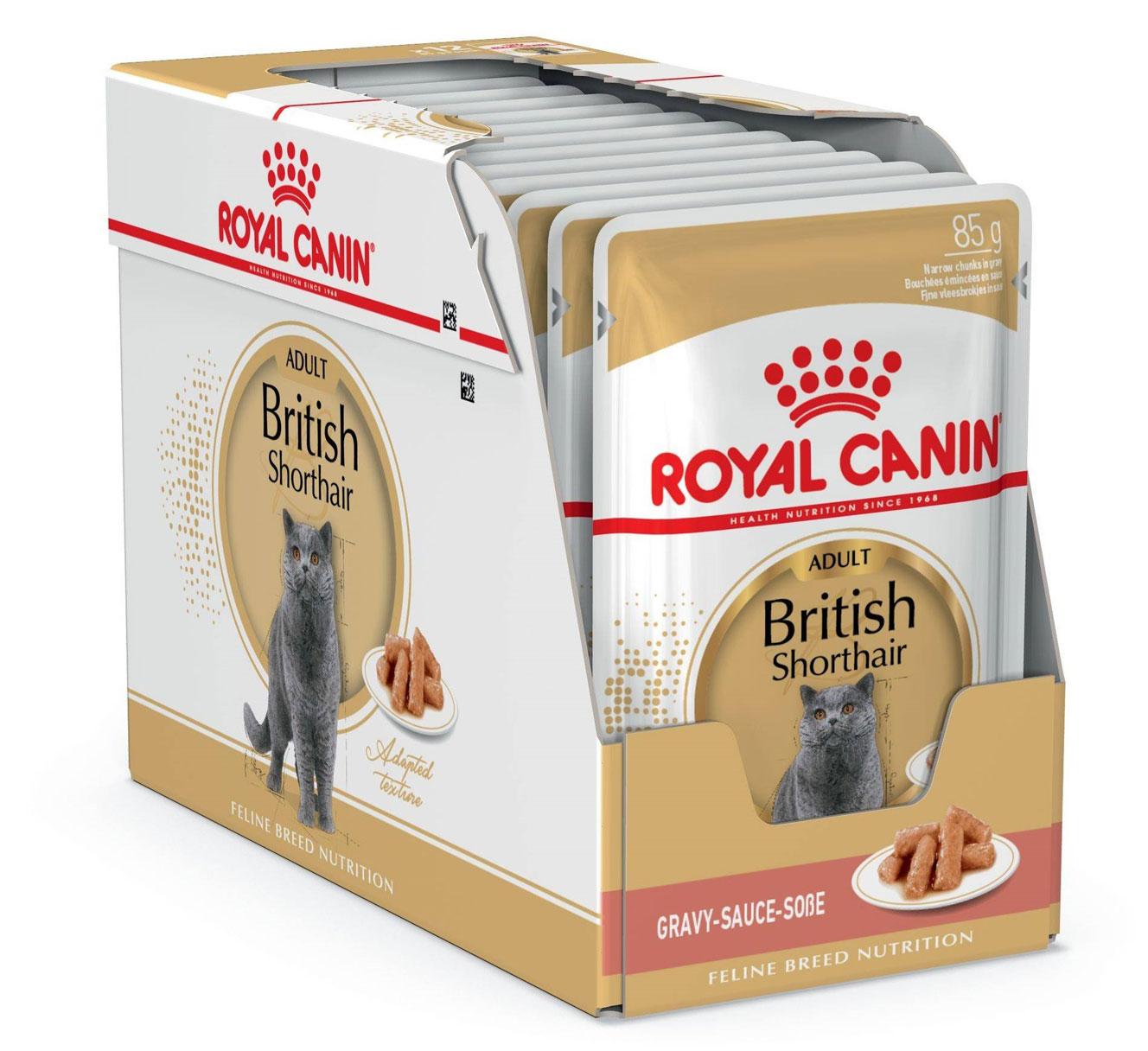 ROYAL CANIN BRITISH SHORTHAIR ADULT – влажный корм для взрослых котов породы британская короткошерстная