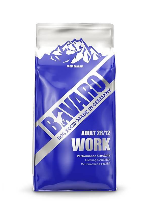 BAVARO WORK 26/12 ADULT – сухой корм для рабочих собак