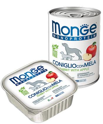 MONGE DOG FRUIT MONOPROTEIN кролик с яблоками