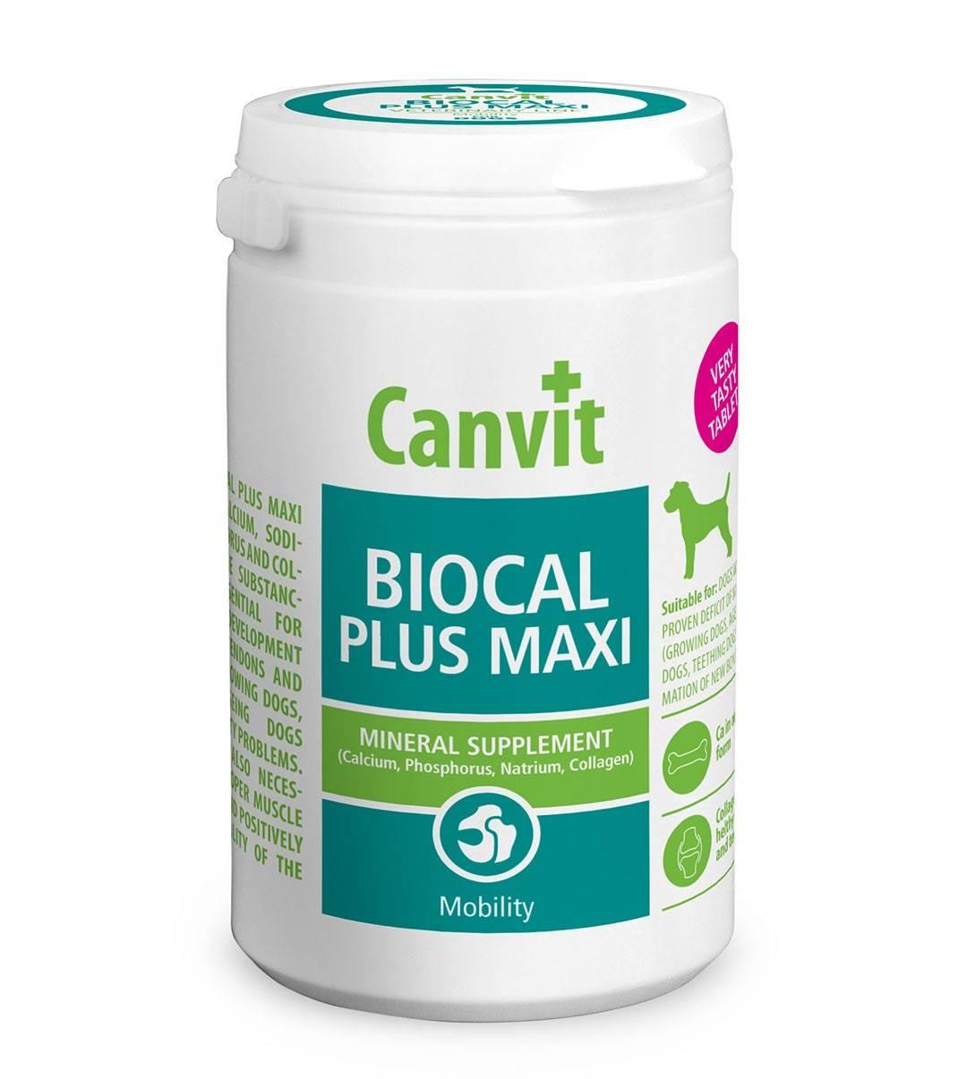 CANVIT BIOCAL PLUS MAXI – комплекс минералов и коллагена для собак больших пород