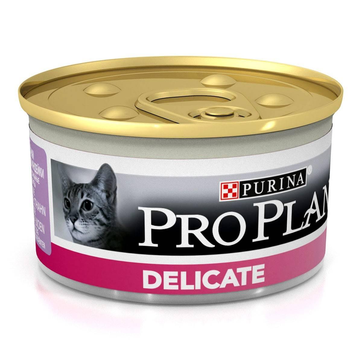 PURINA PRO PLAN DELICATE – консерва для взрослых котов с чувствительным пищеварением