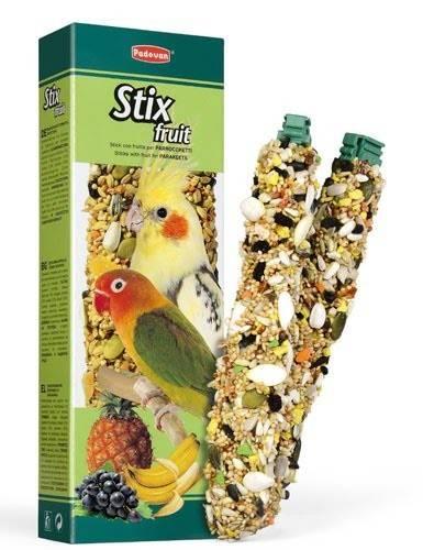 Padovan Stix fruit parrocchetti – дополнительный корм для средних попугаев