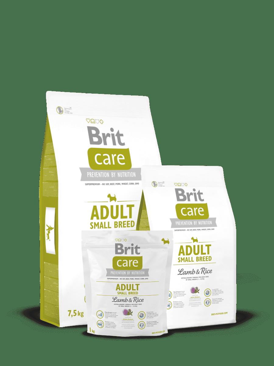 BRIT CARE ADULT SMALL BREED LAMB & RICE – сухий корм з ягням та рисом для дорослих собак малих порід