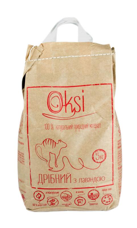 Oksi мелкий наполнитель с лавандой для туалета