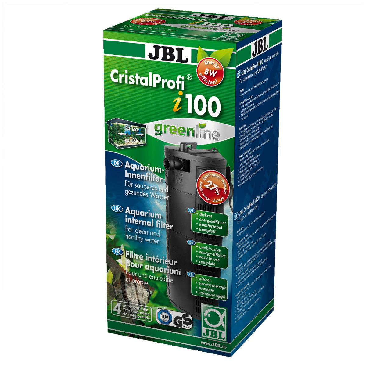 JBL CristalProfi i100 GreenLine – внутрішній фільтр для акваріума до 160 л