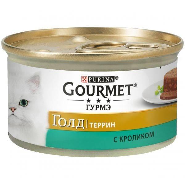 GOURMET Gold Rabbit – консерва с кроликом для взрослых котов