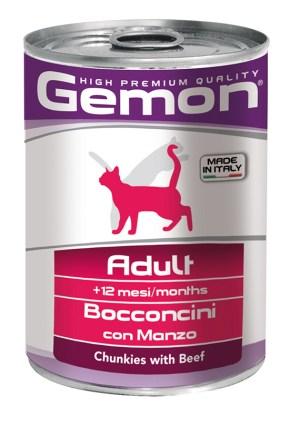 Gemon Adult Chunkies with Beef – консерви для дорослих котів з яловичиною