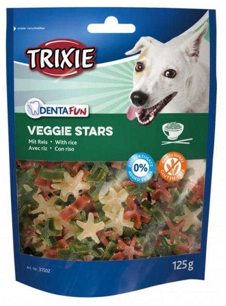 Trixie DENTAFUN Veggie Stars – ласощі з рисом для собак для очищення зубів від нальоту