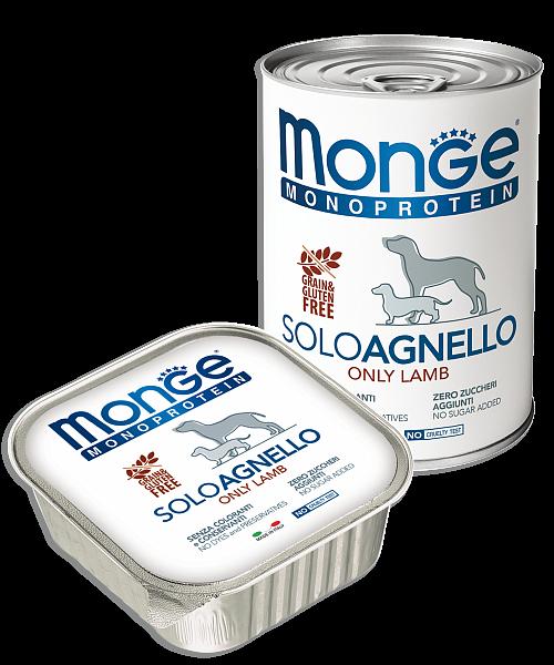Monge Solo Polo консервы с ягненком для собак