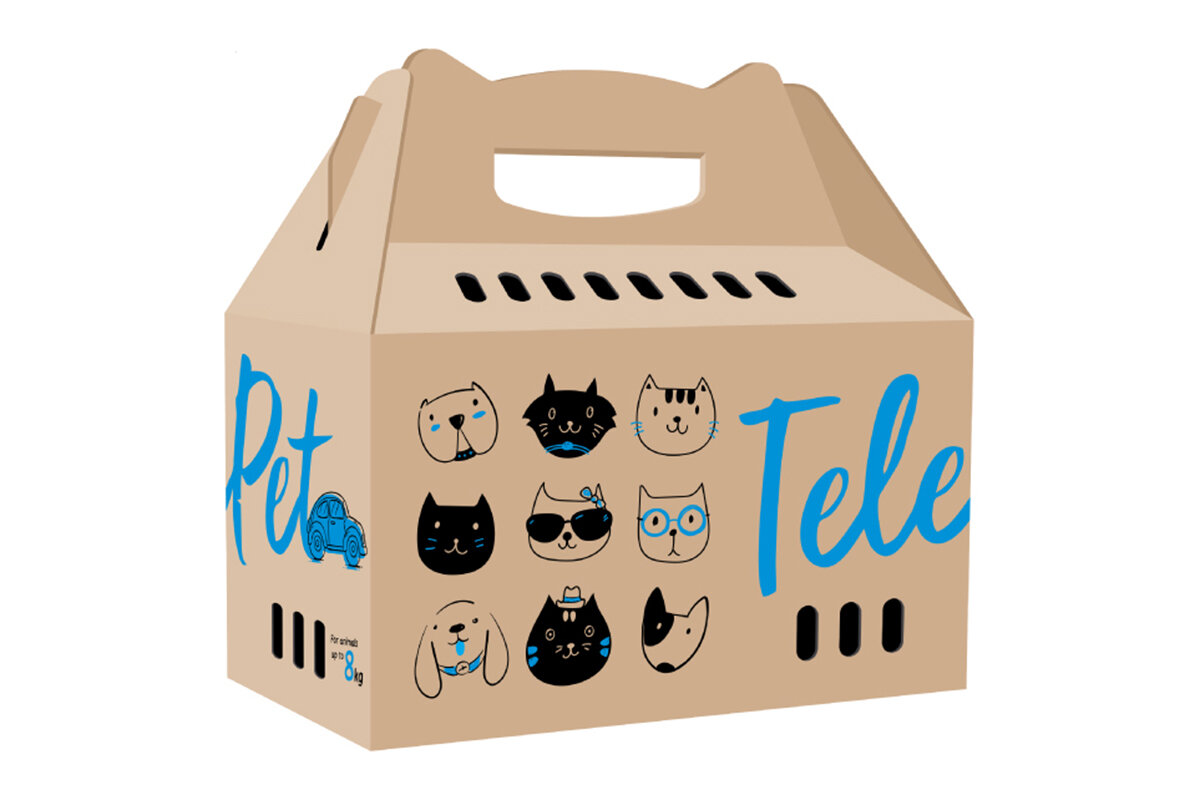 TelePet – картонна переноска для тварин