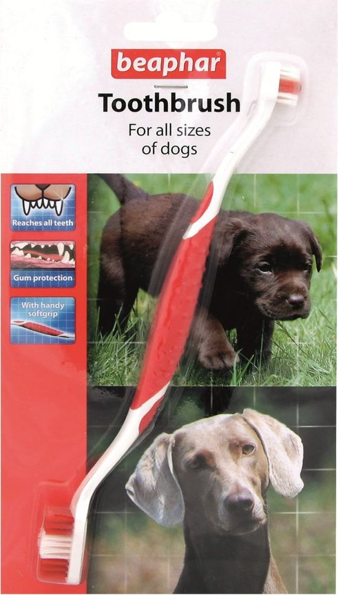 Beaphar Toothbrush – двусторонняя щетка для собак и кошек