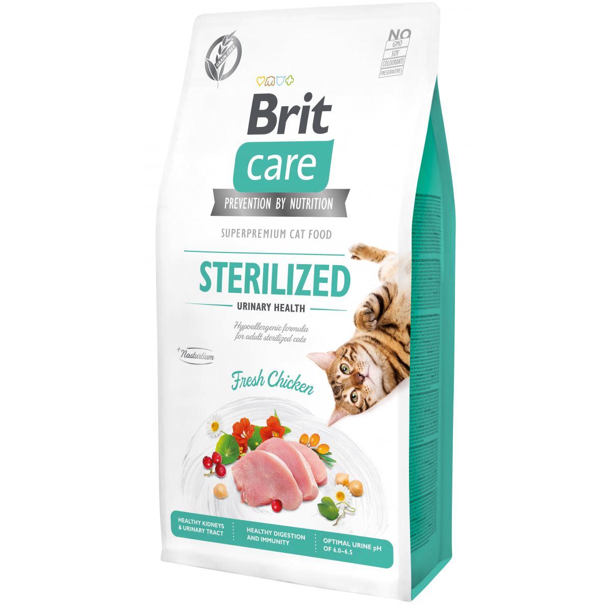 BRIT CARE CAT FOR STERILISED – сухой корм для стерилизованных кошек