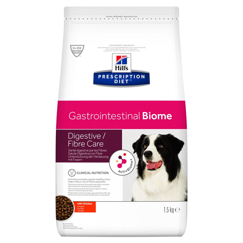 Hill's PRESCRIPTION DIET Gastrointestinal Biome – лечебный сухой корм для собак поддерживает регулярный стул и помогает снизить риск нарушения пищеварения
