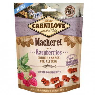 Carnilove Dog Crunchy Snack лакомства со скумбрией и малиной для собак