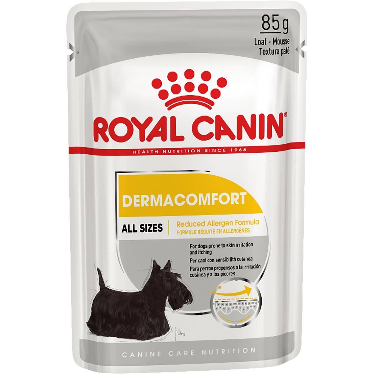 ROYAL CANIN DERMACOMFORT ALL SIZES – влажный корм для собак с чувствительной кожей
