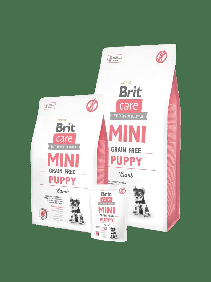 BRIT CARE MINI GRAIN FREE PUPPY LAMB – гипоалергенный сухой корм с ягненком для щенков
